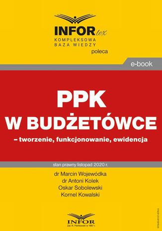 Okładka książki PPK w budżetówce  tworzenie, funkcjonowanie, ewidencja