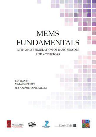 Okładka książki MEMS Fundamentals with ANSYS simulation of basic sensors and actuators