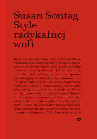 Okładka książki/ebooka Style radykalnej woli