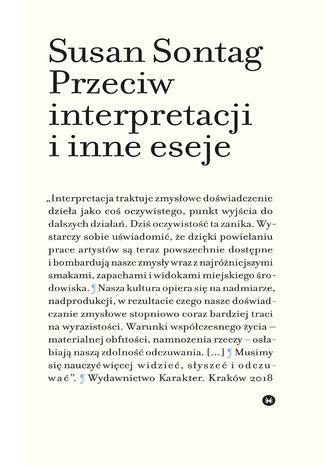Okładka książki Przeciw interpretacji i inne eseje