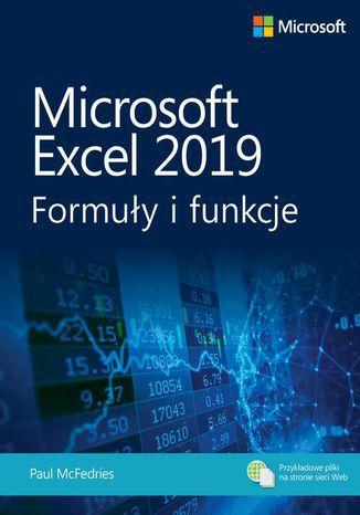 Okładka książki/ebooka Microsoft Excel 2019: Formuły i funkcje