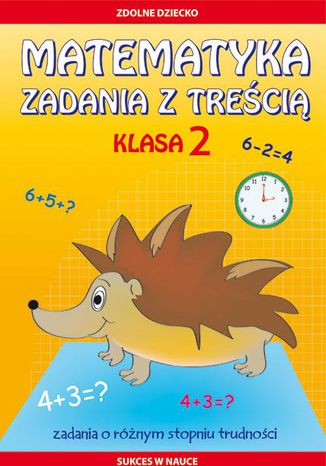 Okładka książki Matematyka. Zadania z treścią. Klasa 2