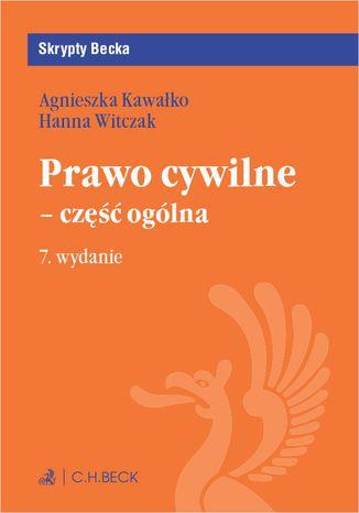 Okładka książki/ebooka Prawo cywilne - część ogólna. Wydanie 7