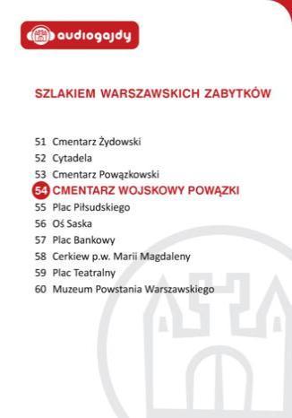 Okładka książki Cmentarz Wojskowy Powązki. Szlakiem warszawskich zabytków