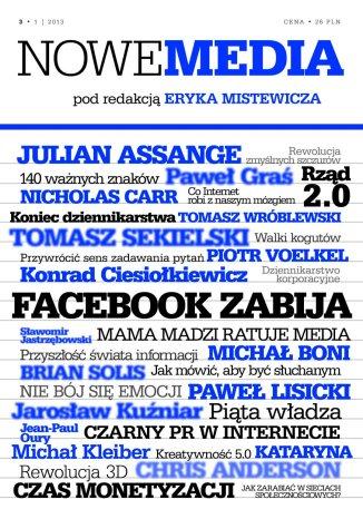 Okładka książki NOWE MEDIA pod redakcją Eryka Mistewicza Kwartalnik 3/2013