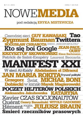 Okładka książki NOWE MEDIA pod redakcją Eryka Mistewicza Kwartalnik 4/2013