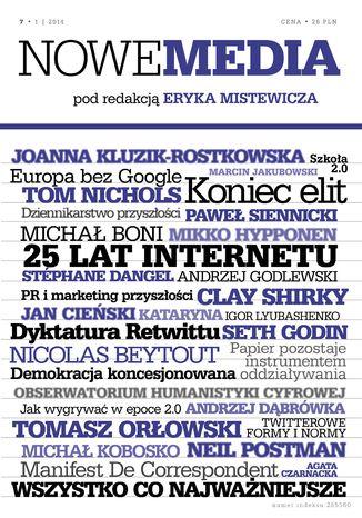 Okładka książki NOWE MEDIA pod redakcją Eryka Mistewicza Kwartalnik 7/2014