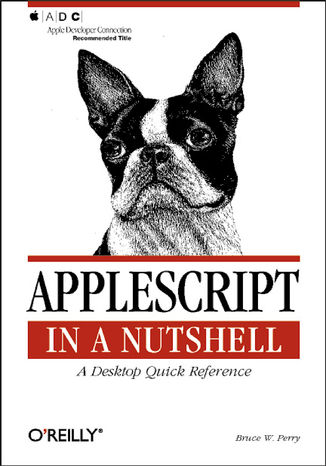 Okładka książki AppleScript in a Nutshell. A Desktop Quick Reference