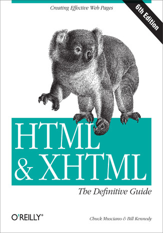 Okładka książki HTML & XHTML: The Definitive Guide. The Definitive Guide. 6th Edition