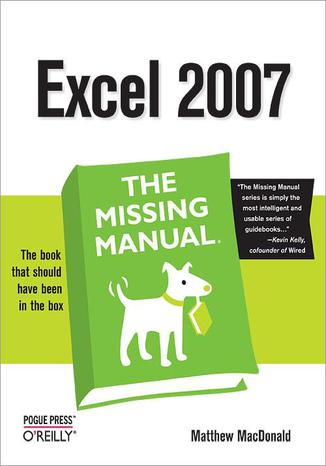 Okładka książki/ebooka Excel 2007: The Missing Manual
