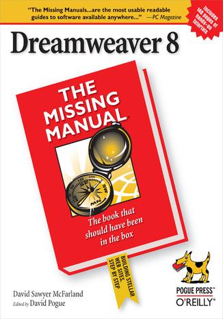 Okładka książki Dreamweaver 8: The Missing Manual. The Missing Manual