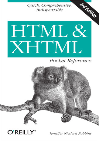 Okładka książki/ebooka HTML and XHTML Pocket Reference. 3rd Edition