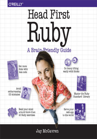 Okładka książki/ebooka Head First Ruby. A Brain-Friendly Guide