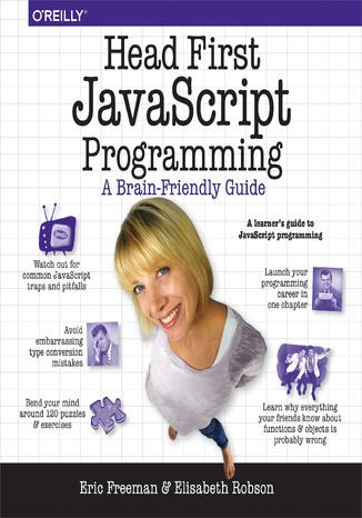 Okładka książki/ebooka Head First JavaScript Programming. A Brain-Friendly Guide