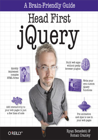 Okładka książki/ebooka Head First jQuery. A Brain-Friendly Guide