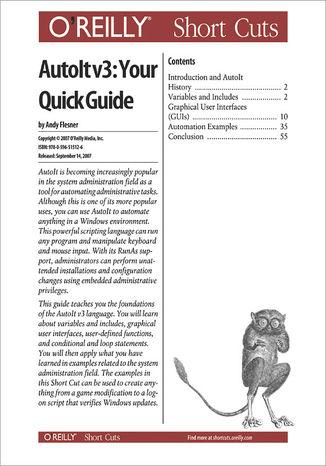 Okładka książki/ebooka AutoIt v3: Your Quick Guide