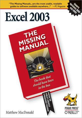 Okładka książki Excel 2003: The Missing Manual. The Missing Manual