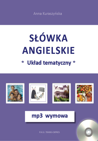 Okładka książki/ebooka Słówka angielskie-układ tematyczny + mp3 wymowa