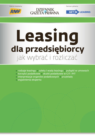 Okładka książki Leasing dla przedsiębiorcy jak wybrać i rozliczać