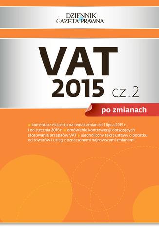 Okładka książki/ebooka VAT 2015 po zmianach cz. 2