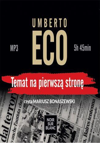 Okładka książki Temat na pierwszą stronę