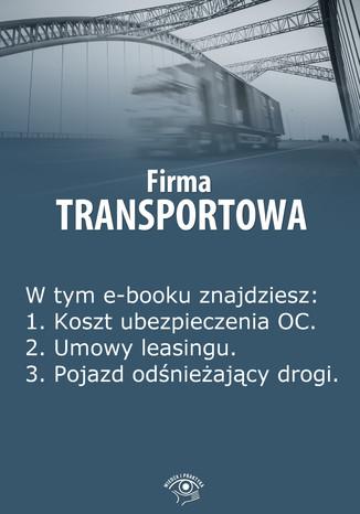 Okładka książki Firma transportowa, wydanie styczeń 2014 r