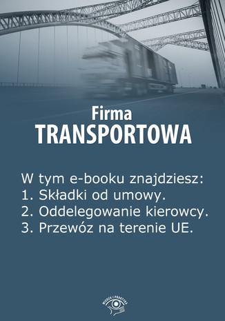 Okładka książki/ebooka Firma transportowa, wydanie kwiecień 2014 r