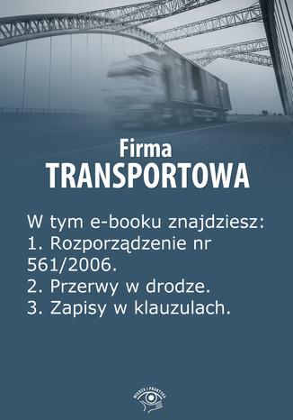 Okładka książki/ebooka Firma transportowa, wydanie maj 2014 r