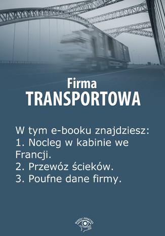 Okładka książki/ebooka Firma transportowa, wydanie czerwiec 2014 r