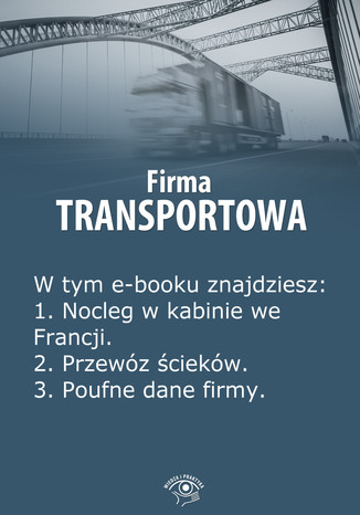 Okładka książki Firma transportowa, wydanie czerwiec 2014 r