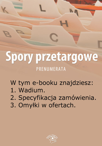 Spory przetargowe, wydanie czerwiec 2014 r