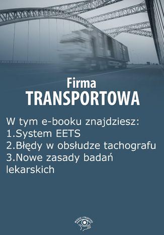 Okładka książki/ebooka Firma transportowa, wydanie wrzesień 2014 r
