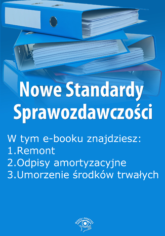 Okładka książki Nowe Standardy Sprawozdawczości , wydanie maj 2014 r. część I