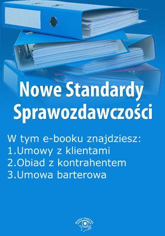 Okładka książki Nowe Standardy Sprawozdawczości , wydanie lipiec 2014 r. część I