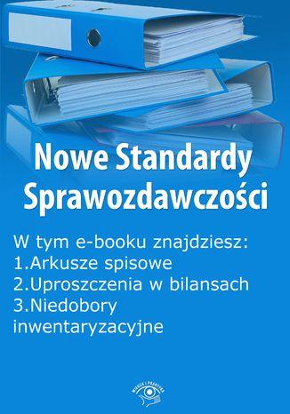 Okładka książki Nowe Standardy Sprawozdawczości , wydanie listopad 2014 r. część I