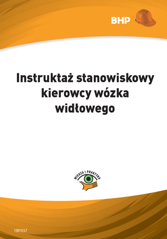 Okładka książki/ebooka Instruktaż stanowiskowy kierowcy wózka widłowego