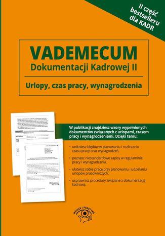 Okładka książki Vademecum dokumentacji kadrowej część II