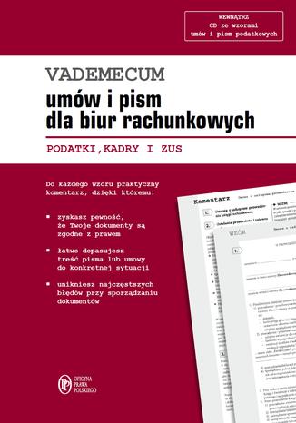 Okładka książki/ebooka Vademecum umów i pism dla biur rachunkowych