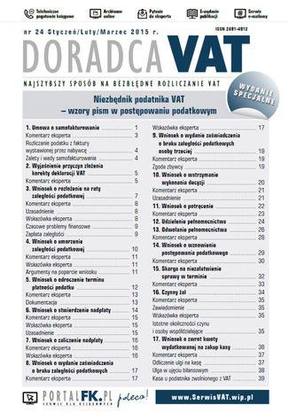 Doradca VAT - wydanie specjalne: Niezbędnik podatnika VAT - wzory pism w postępowaniu podatkowym