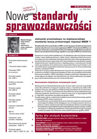 Okładka książki Nowe Standardy Sprawozdawczości, wydanie specjalne: Jednostki przechodzące na międzynarodowe standardy muszą przestrzegać regulacji MSSF 1