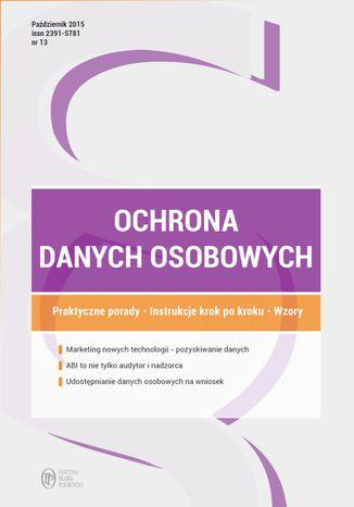 Ochrona danych osobowych - wydanie: październik 2015 r