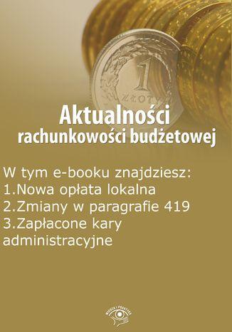 Aktualności rachunkowości budżetowej, wydanie wrzesień 2015 r