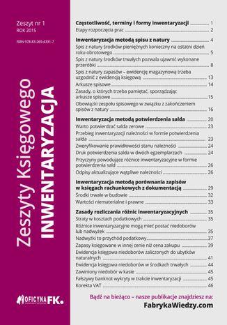 Okładka książki/ebooka Zeszyty Księgowego. Nr 1. Inwentaryzacja