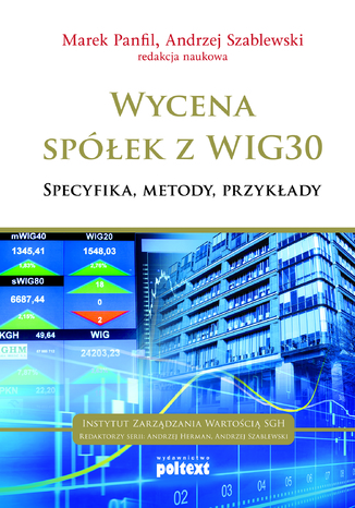 Okładka książki Wycena spółek z WIG 30