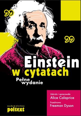 Okładka książki Einstein w cytatach