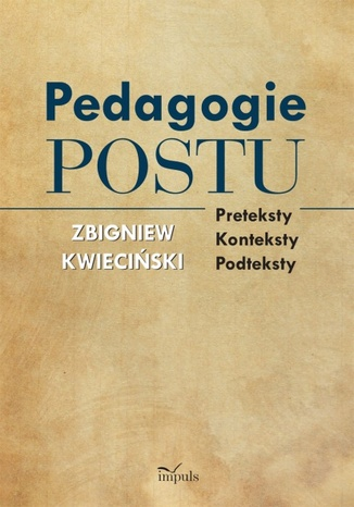 Okładka książki Pedagogie postu