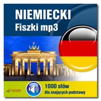 Okładka książki Niemiecki Fiszki mp3 1000 słówek dla znających podstawy