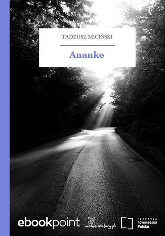Okładka książki/ebooka Ananke