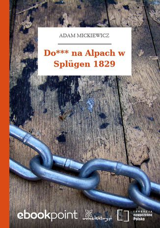Do*** na Alpach w Splügen 1829
