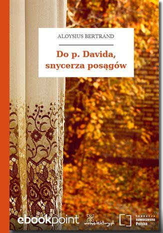Okładka książki Do p. Davida, snycerza posągów
